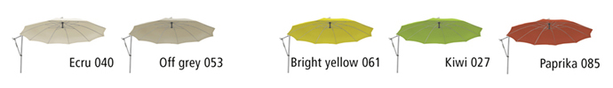 kolory parasole Sunflex